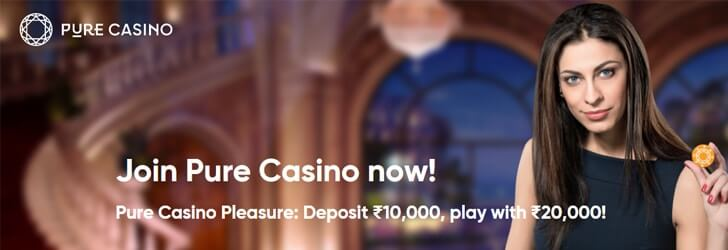 pure casino welcome bonus