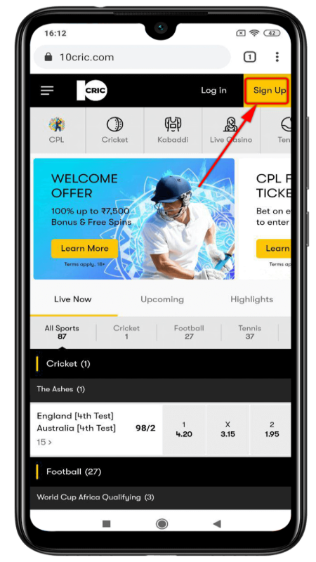 10Cric-cricket-betting-app